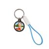 Kép 1/3 - Szublimációs kulcstartó USB-C kábellel és sörnyitóval kék PVC