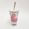 Kép 1/3 - Szublimációs fém színjátszós pohár szívószállal
