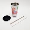 Kép 2/3 - Szublimációs színjátszó fém pohár szívószállal 450ml