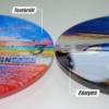 Kép 1/5 - Szublimációs üveg falióra 20cm