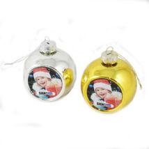 Szublimációs karácsonyfadísz gömb - /arany, ezüst/