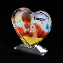 Szublimációs kristálytömb szív