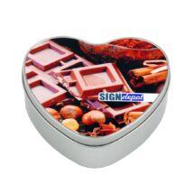 Szublimációs fém doboz szív alakú