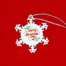Szublimációs karácsonyfadísz / hópehely /