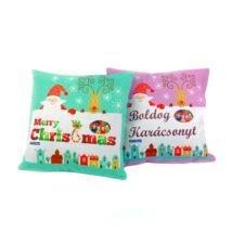 Szublimációs vászon karácsonyi párnahuzat