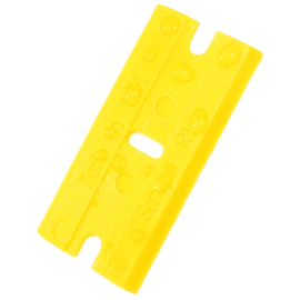 Cserélhető Akril penge műanyag kaparó szerszámhoz - Sárga (100db)