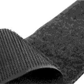 Öntapadós tépőzárszalag plüss oldal 25mm /fekete/ univerzális, kivéve PVC