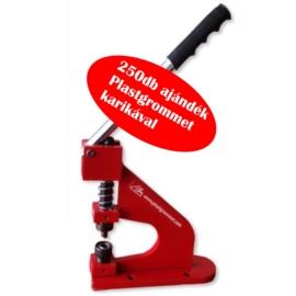 HPS025 kézi ringliző prés 8/12/16mm 250 db ajándék Plastgrommet karikával