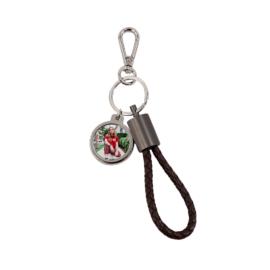 Szublimációs kulcstartó USB-C kábellel és sörnyitóval barna bőr