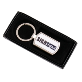 Szublimációs kulcstartó (téglalap alakú)