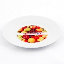 Szublimációs fehér tányér 19cm