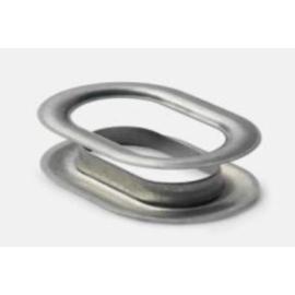 40mm-es ovális rozsdamentes acél ponyvakarika (500pár)