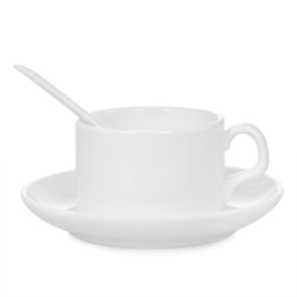Szublimációs kávéscsésze tányérral és kanállal