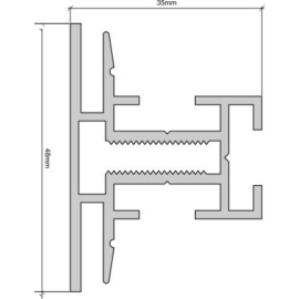 Spirit-TEX alumínium profil 48mm/3060mm (kétoldalas)