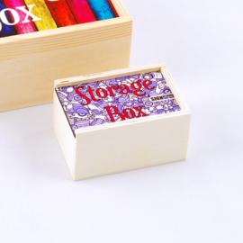 Szublimációs fa tároló doboz - mini