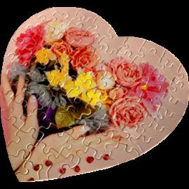 Szublimációs kirakó szív alakú