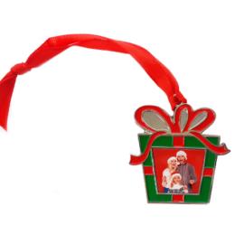 Szublimációs fém karácsonyfadísz / ajándékdoboz /