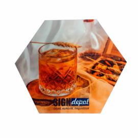 Szublimációs prémium parafa alátét - hexagon