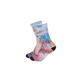 Szublimációs hosszúszárú zokni - női