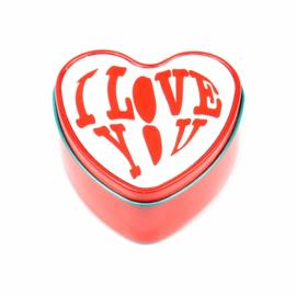Szív alakú illatgyertya szublimációs fémdobozban