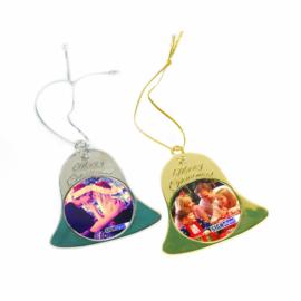 Szublimációs karácsonyfadísz- csengő /arany, ezüst /