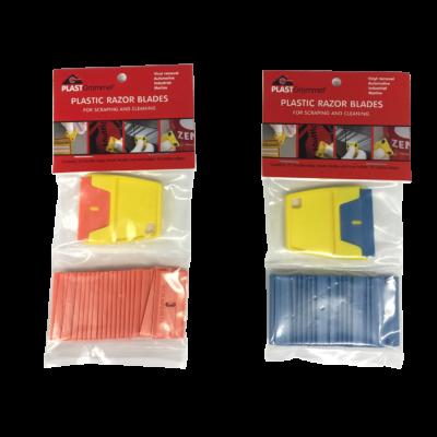 Mini Kaparó + 25db Cserélhető műanyag penge műanyag kaparó szerszámhoz - Narancs