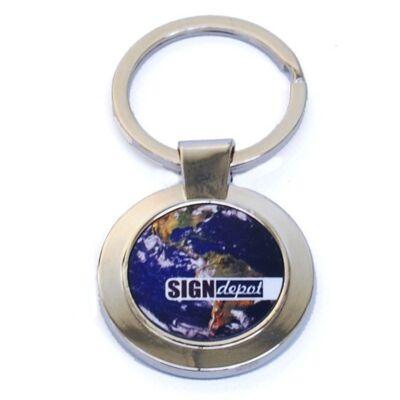 Szublimációs kulcstartó (kör alakú)
