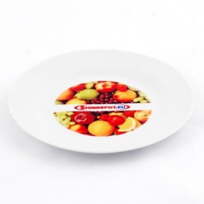 Szublimációs fehér tányér 25cm