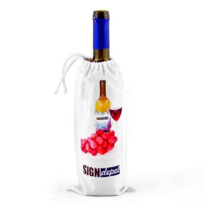 Szublimációs boros üveg tartó zsinórral