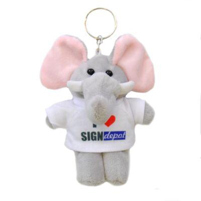 Szublimációs plüss elefánt kulcstartó
