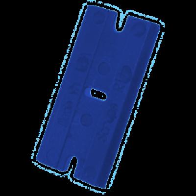Cserélhető Polikarbonát penge műanyag kaparó szerszámhoz - Kék (100db)