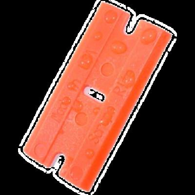 Cserélhető műanyag penge műanyag kaparó szerszámhoz - Narancs (100db)