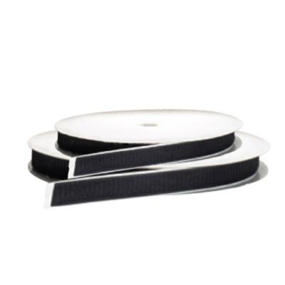 Öntapadós tépőzárszalag plüss oldal 25mm /fekete/ PVC, műanyag