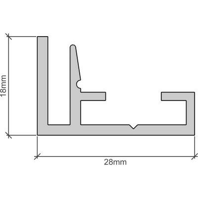 Spirit-TEX alumínium profil 18mm/3060mm