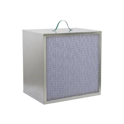 GLQ-F8-410*410*300mm medium efficiency box style filter