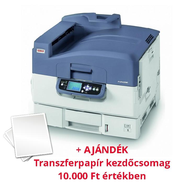 ae92f539a3 Fehér tinta! OKI PRO9420WT A4-es lézernyomtató. Fehér szín nyomtatás, fehér  toner! Pólónyomtatáshoz, fekete póló nyomtatáshoz